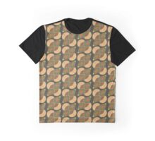 Earth Tones Midcentury Tile Pattern Graphic T-Shirt