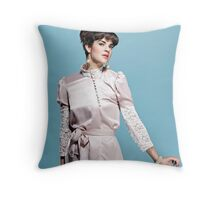 Buttons Lace and Pinch Throw Pillow