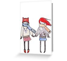 Winter girls Greeting Card