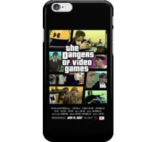 The Dangers of Video Games Poster iPhone Case/Skin