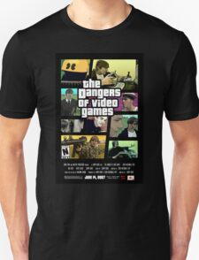 The Dangers of Video Games Poster Unisex T-Shirt