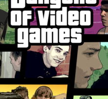 The Dangers of Video Games Poster Sticker