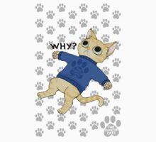 "thesweatercats ""Why?"" Kids Tee"