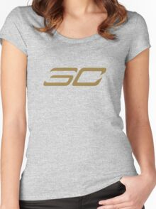 STEPHEN CURRY SC / #30 Women's Fitted Scoop T-Shirt