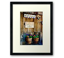 Helping Save the Environment Framed Print