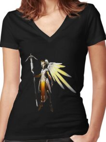 Mercy Women's Fitted V-Neck T-Shirt
