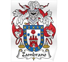 Zambrano Coat of Arms (Spanish) Poster