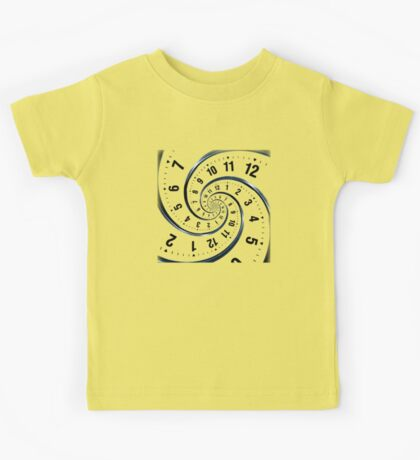 Time Travel Spiral Kids Tee