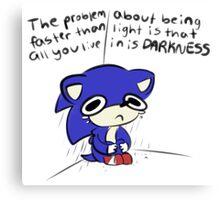 Spiciest Sonic Meme Canvas Print
