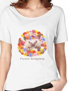 Flower Hedgehog Women's Relaxed Fit T-Shirt