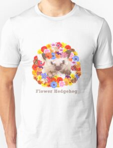 Flower Hedgehog Unisex T-Shirt