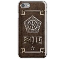 Spellbook - Brown iPhone Case/Skin