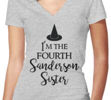 I'm the Fourth Sanderson Sister Women's Fitted V-Neck T-Shirt