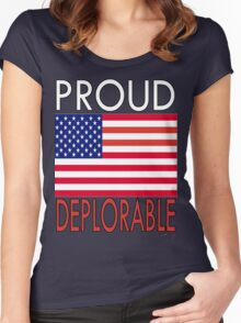 PROUD DEPLORABLE Women's Fitted Scoop T-Shirt
