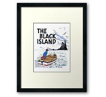 tintin the black island Framed Print