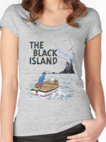 tintin the black island Women's Fitted Scoop T-Shirt