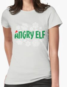 Angry Elf Womens Fitted T-Shirt
