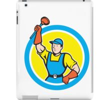 Super Plumber With Plunger Circle Cartoon iPad Case/Skin