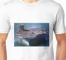 Flight Ops on the USS Carl Vinson, CVN-70 Unisex T-Shirt