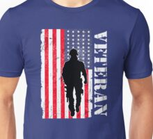 USA American veteran soldier flag design Unisex T-Shirt