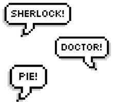 Sherlock Doctor Pie by Caitlin Hallam