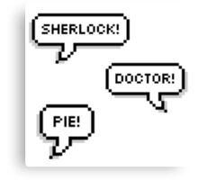 Sherlock Doctor Pie Canvas Print