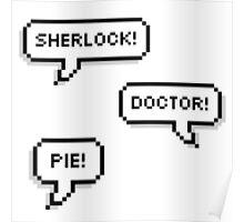 Sherlock Doctor Pie Poster