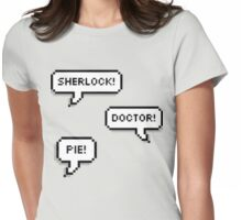 Sherlock Doctor Pie Womens Fitted T-Shirt