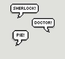Sherlock Doctor Pie Womens Fitted T-Shirt