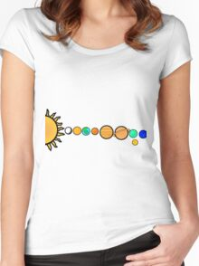 Our Solar System Women's Fitted Scoop T-Shirt