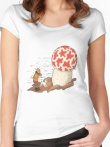 tintin the shoting star Women's Fitted Scoop T-Shirt