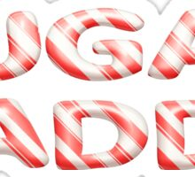 SUGAR DADDY candy cane design Sticker