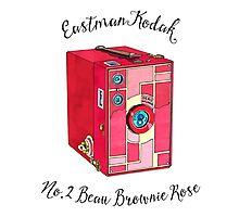 Kodak Beau Box Brownie Rose  Photographic Print