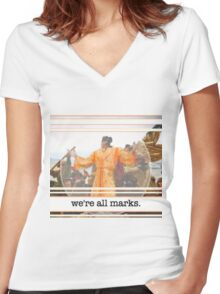 George the Mark (Original) Women's Fitted V-Neck T-Shirt