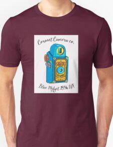 Vintage Coronet Blue Midget Camera Illustration Unisex T-Shirt