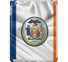 New York City Coat of Arms - City of New York Seal over NYC Flag  iPad Case/Skin