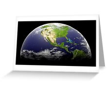 Planet Earth 3d Greeting Card