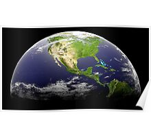 Planet Earth 3d Poster