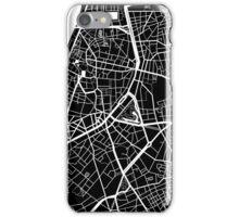 Antwerp Map - Black iPhone Case/Skin