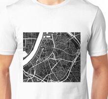 Antwerp Map - Black Unisex T-Shirt
