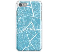 Antwerp Map - Baby Blue iPhone Case/Skin