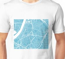 Antwerp Map - Baby Blue Unisex T-Shirt