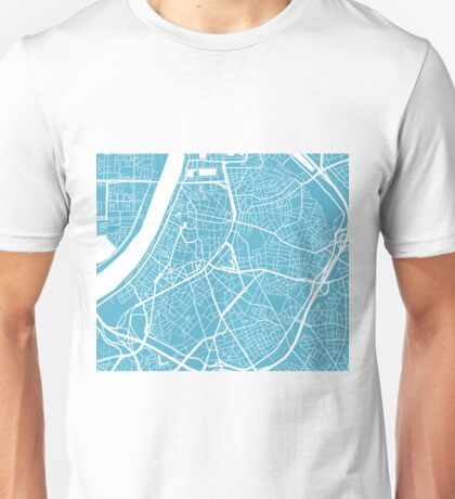 Antwerp Map - Baby Blue Unisex T-Shirt