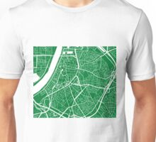 Antwerp Map - Green Unisex T-Shirt