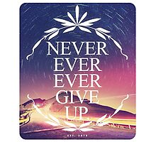 Never Ever Ever Give Up Photographic Print