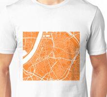 Antwerp Map - Orange Unisex T-Shirt
