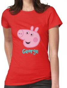 George Pig Womens Fitted T-Shirt