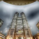 Tokyo Metropolitan Government Building at Night by Rod Kashubin