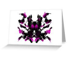 Rorschach Pink Greeting Card