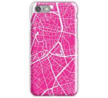 Antwerp Map - Hot Pink iPhone Case/Skin
